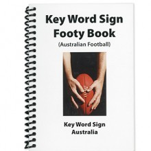 Key Word Sign Footy Book image