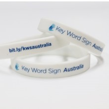 Key Word Sign Wristbands